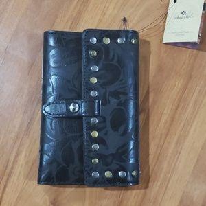 Patricia Nash Colli Laser Floral Leather Wallet.